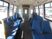 1998 General Coach Ford 13 Passenger and 2 Wheelchair Shuttle Bus Front exterior-08275-7