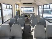 2001 Champion Chevrolet 12 Passenger and 2 Wheelchair Shuttle Bus Passenger side exterior rear angle-08546-3