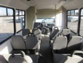 2001 Champion Chevrolet 12 Passenger and 2 Wheelchair Shuttle Bus Driver side exterior rear angle-08546-4