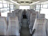 2003 Glaval Ford 25 Passenger Shuttle Bus Driver side exterior rear angle-08641-4