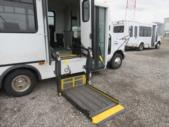 2006 Champion Ford 10 Passenger and 3 Wheelchair Shuttle Bus Driver side exterior rear angle-08656-4