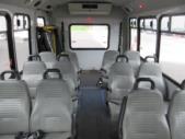 2005 Goshen Coach Ford 12 Passenger and 2 Wheelchair Shuttle Bus Front exterior-08927-7