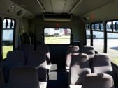 2000 Goshen Coach Ford 12 Passenger and 2 Wheelchair Shuttle Bus Side exterior-09283-6