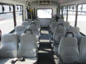2006 Goshen Coach Ford E450 16 Passenger and 2 Wheelchair Shuttle Bus Rear exterior-09523-8