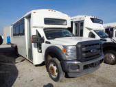2012 Champion Ford F550 16 Passenger and 2 Wheelchair Shuttle Bus Passenger side exterior front angle-U10000-1