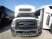 2012 Champion Ford F550 16 Passenger and 2 Wheelchair Shuttle Bus Passenger side exterior rear angle-U10000-3