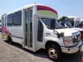 2011 Champion Ford 6 Passenger and 4 Wheelchair Shuttle Bus Passenger side exterior front angle-U10030-1