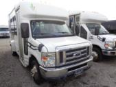2011 Starcraft Ford 6 Passenger and 2 Wheelchair Shuttle Bus Passenger side exterior front angle-U10155-1
