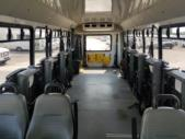 2012 Goshen Coach Ford 4 Passenger and 8 Wheelchair Shuttle Bus Rear exterior-U10178-8